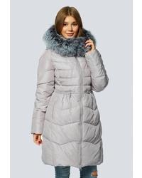 bd773ad538f Купить женский серый пуховик в интернет-магазине Lamoda - модные ...