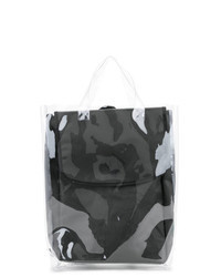 Серый рюкзак с камуфляжным принтом