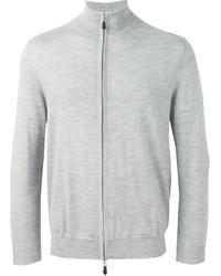 Серый свитер на молнии