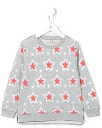 Детский серый свитер со звездами для девочке от Stella McCartney