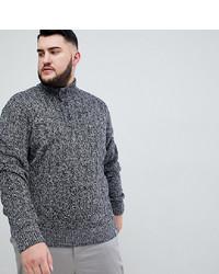 Серый свитер с воротником на пуговицах от BadRhino