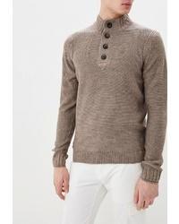 Серый свитер с воротником на пуговицах от Kensington Eastside