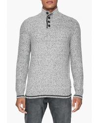Серый свитер с воротником на пуговицах от Q/S designed by