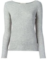 серый свитер с круглым вырезом original 1330827
