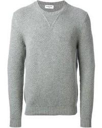 Серый свитер с круглым вырезом