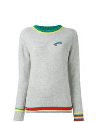 Женский серый свитер с круглым вырезом от Ç By Mira Mikati