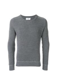 Мужской серый свитер с круглым вырезом от AMI Alexandre Mattiussi