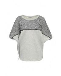 Женский серый свитер с круглым вырезом от Aurora Firenze