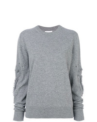 Женский серый свитер с круглым вырезом от Barrie