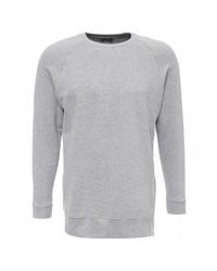 Мужской серый свитер с круглым вырезом от Befree