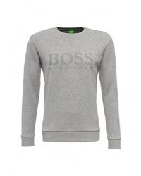 Мужской серый свитер с круглым вырезом от Boss Green