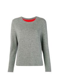 Женский серый свитер с круглым вырезом от Chinti & Parker