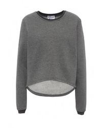 Женский серый свитер с круглым вырезом от Cocos