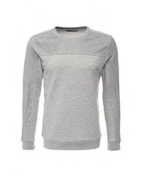 Мужской серый свитер с круглым вырезом от DRYWASH