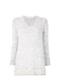 Женский серый свитер с круглым вырезом от Fabiana Filippi