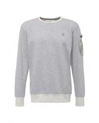Мужской серый свитер с круглым вырезом от G Star