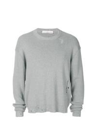 Мужской серый свитер с круглым вырезом от Golden Goose Deluxe Brand