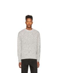 Мужской серый свитер с круглым вырезом от John Elliott