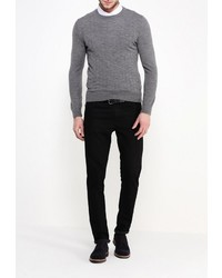 Мужской серый свитер с круглым вырезом от Lacoste