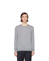 Мужской серый свитер с круглым вырезом от Lanvin