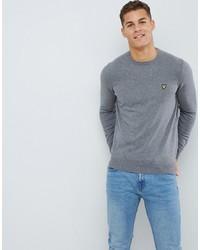 Мужской серый свитер с круглым вырезом от Lyle & Scott
