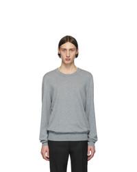 Мужской серый свитер с круглым вырезом от Maison Margiela