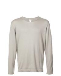 Мужской серый свитер с круглым вырезом от Massimo Alba