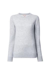 Женский серый свитер с круглым вырезом от Michael Kors Collection