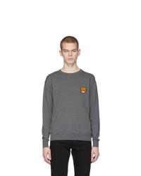 Мужской серый свитер с круглым вырезом от Moschino