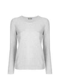Женский серый свитер с круглым вырезом от N.Peal