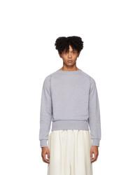 Мужской серый свитер с круглым вырезом от Random Identities