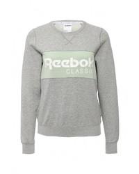 Женский серый свитер с круглым вырезом от Reebok Classics