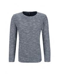 Мужской серый свитер с круглым вырезом от s.Oliver Denim