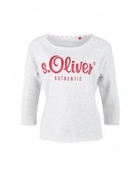 Женский серый свитер с круглым вырезом от s.Oliver