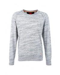 Мужской серый свитер с круглым вырезом от s.Oliver