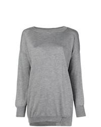 Женский серый свитер с круглым вырезом от Snobby Sheep