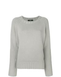 Женский серый свитер с круглым вырезом от Steffen Schraut