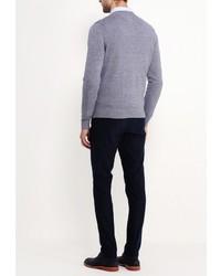 Мужской серый свитер с круглым вырезом от Tommy Hilfiger