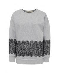 Женский серый свитер с круглым вырезом от Tsurpal