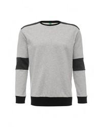 Мужской серый свитер с круглым вырезом от United Colors of Benetton