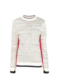 Женский серый свитер с круглым вырезом от Victoria Victoria Beckham