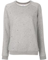 Женский серый свитер с круглым вырезом от Zoe Karssen