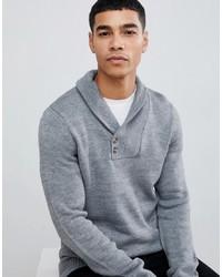 Серый свитер с отложным воротником от Pier One