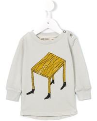 Детский серый свитер с принтом для мальчику от Bobo Choses