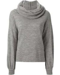 Серый свитер с хомутом