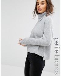 Женский серый свитер с хомутом