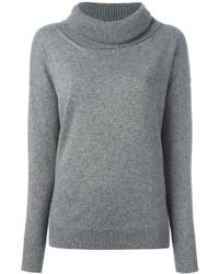 Женский серый свитер с хомутом от Blumarine