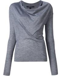 Женский серый свитер с хомутом от Derek Lam