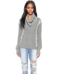 Женский серый свитер с хомутом от Ella Moss