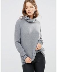 Женский серый свитер с хомутом от French Connection